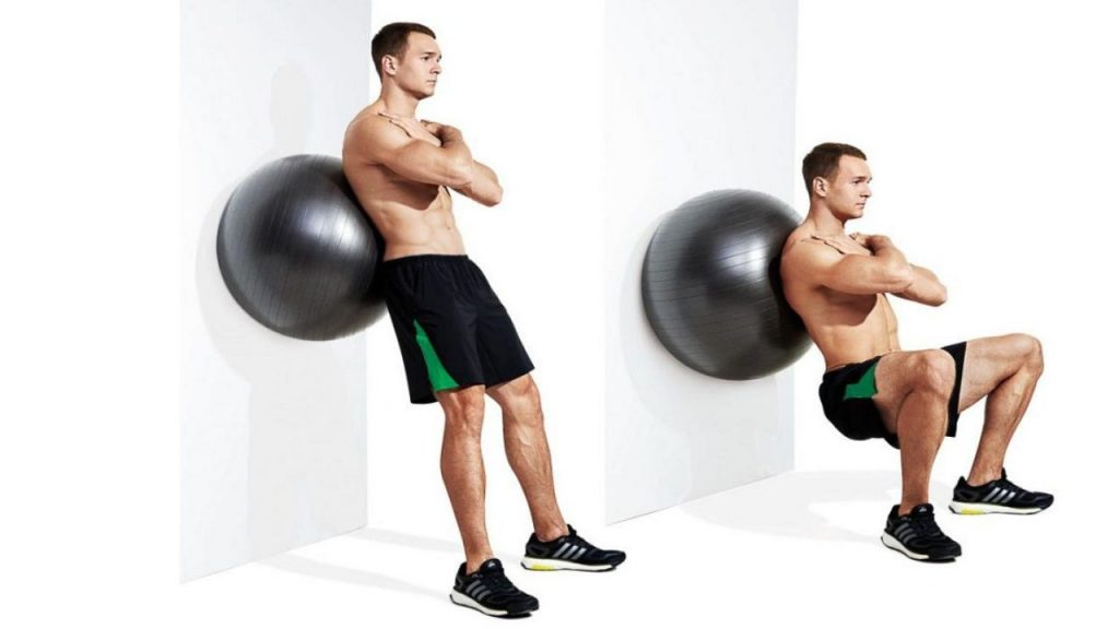 Squats with Exercise Ball - Workouts with Injury Risks