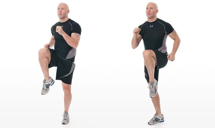 High Knees-Running in Place