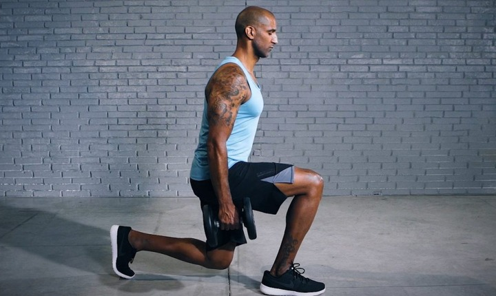 Lunge - Full Body Dumbbell Workout
