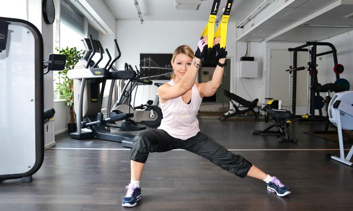 TRX Lateral Lunges