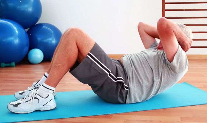 Older Adult Exercise at Home - Sit-Ups
