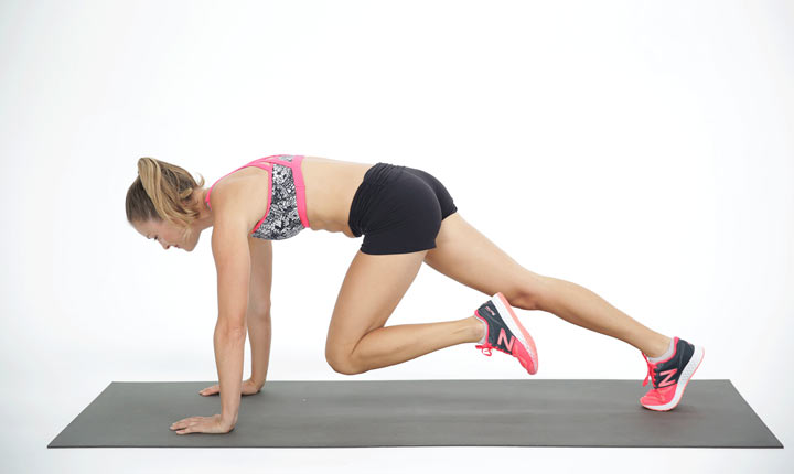 Mountain Climbers core strengthening exercise