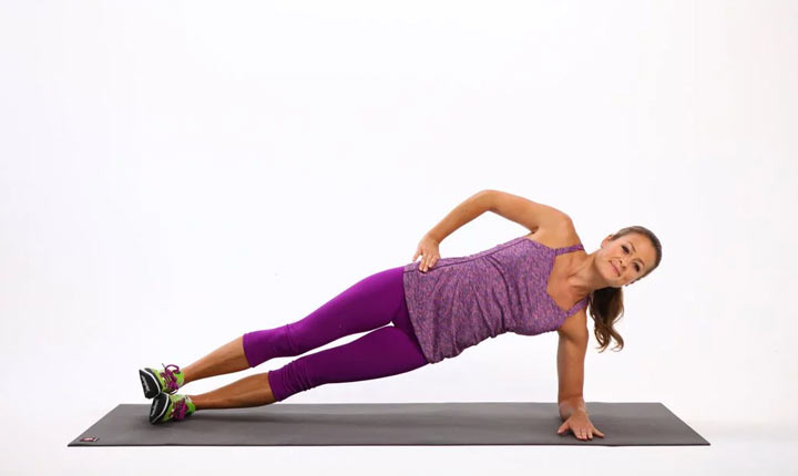 Side Plank core strengthening exercise