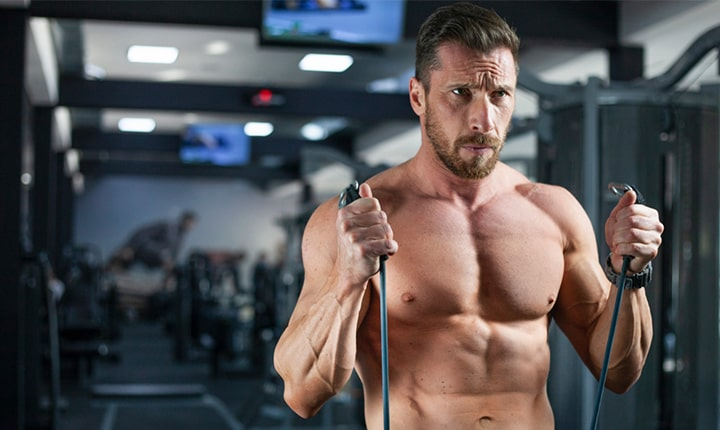 Standing Resistance Band Hammer Curl - Biceps exercises