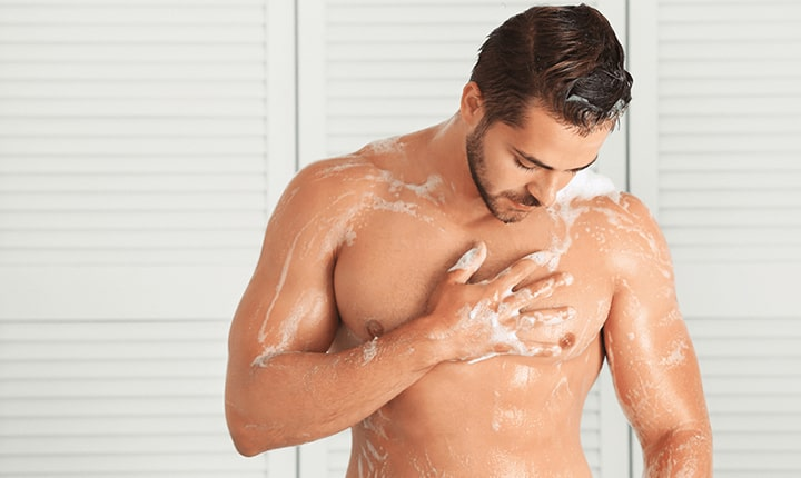 Showering after exercise