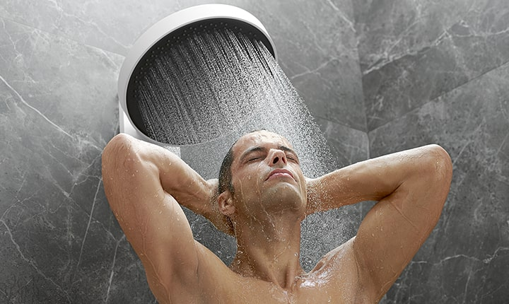 Showering after a workout