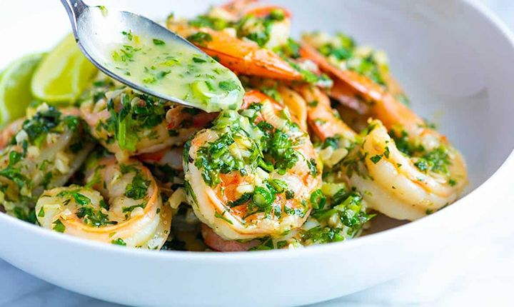Spicy Cilantro Shrimp with Honey-Lime Dipping Sauce