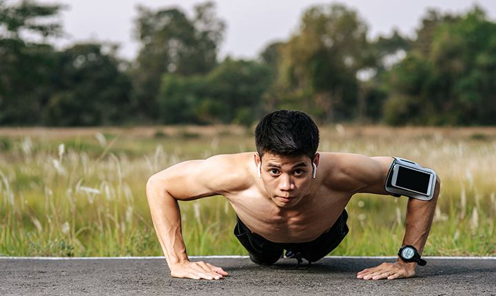 Strict Military Pushup - Different Types of Push-ups