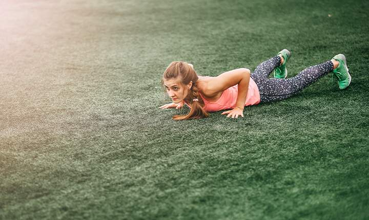 Burpee- five-minute workout session