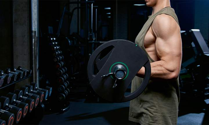 Concentrate on reps and lift lighter weights