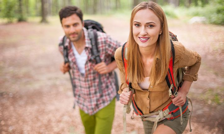 Go hiking with your friends